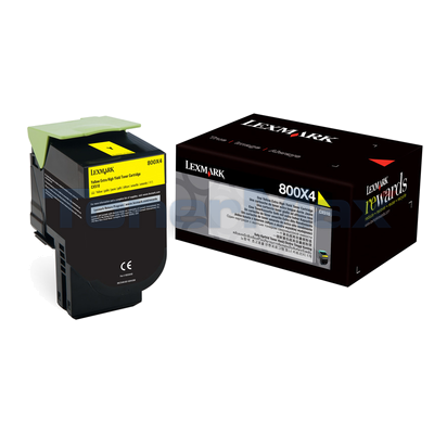 LEXMARK CX510 TONER CARTRIDGE YELLOW 4K